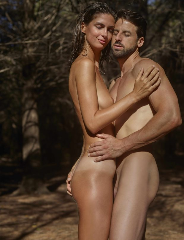 Naked Couple In Nature
